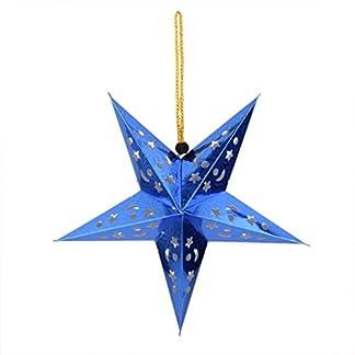 Farolillos de papel para colgar, diseño de estrellas, adornos para fiestas, 10unidades