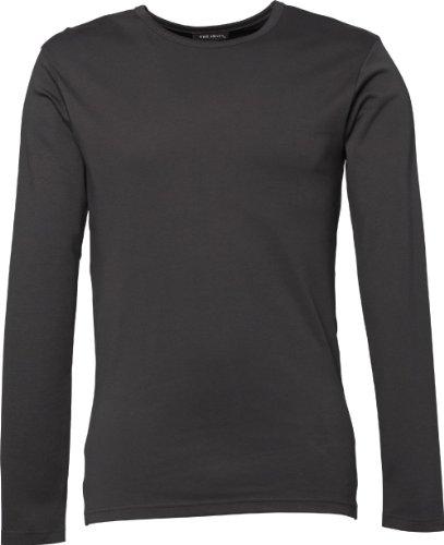 TJ530 Herren Longsleeve Interlock T-Shirt Langarm, Farbe:dark grey;Herrengrößen:L L,Dark Grey (Sleeve Crew Tee Neck Long)