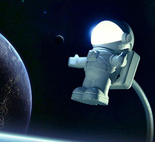 Gearmax® Astronaut Nachtlicht Spaceman Astro Lampe USB-betrieben LED Anpassbar Nacht & Schreibtischlicht