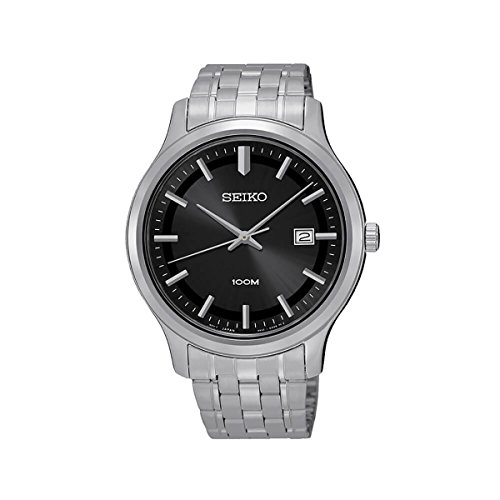 Seiko SUR145P1 Stainless Steel Analouge Black Dial Men's Watch- [SUR145P1]