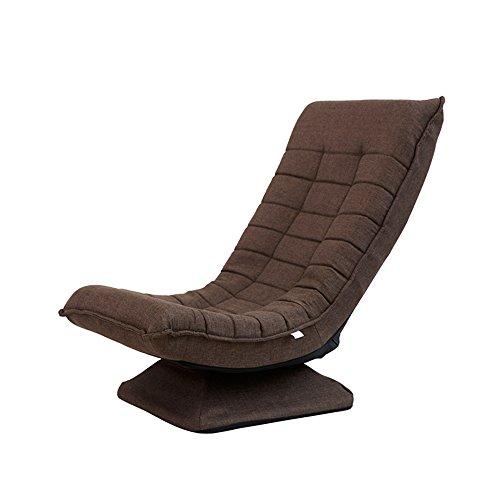 ch-AIR Zhaizhen Schaukelliege Sofa drehbar Stoff Kunst Freizeit Lazy Faltbare Liege Blau \Braun \Rot \ Khaki für den Garten braun -