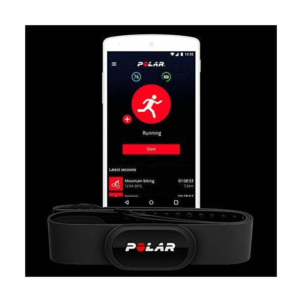 Polar H10 – Sensor de Frecuencia cardíaca Bluetooth con banda pectoral