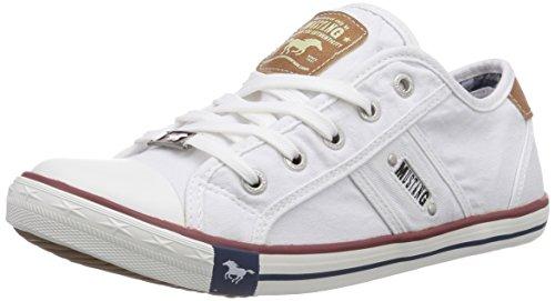 Mustang 1099-302-1, Damen Sneakers, Weiß (1 weiß), 36 EU