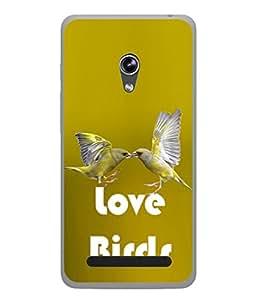 PrintVisa Love Birds High Gloss Designer Back Case Cover for Asus Zenfone 6 A600CG