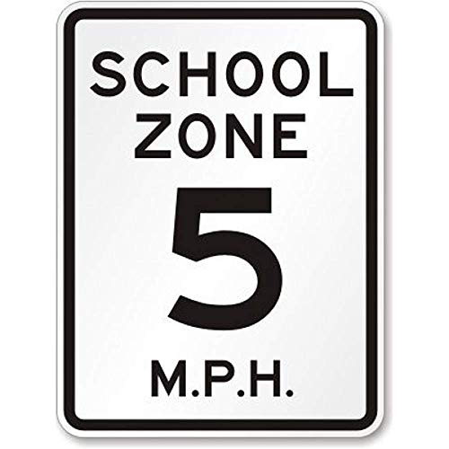 New Road Sign Slow Speed Limit [Your Choice] MPH Schild Aluminium Metall Blechschild Straßenschild 20,3 x 30,5 cm 8x12 INCH g290 -