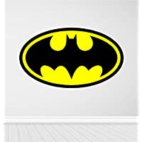 Red Parrot Graphics Batman Logo Kids Wall Art, laptop Sticker Full Colour Print Decal Transfer HUGE (Large 58cm x 100cm)