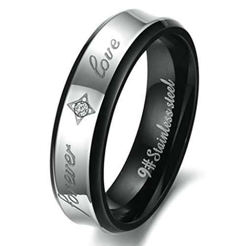 daesar-anello-donna-acciaio-inossidabile-anello-fidanzmento-forever-love-argento-nero-dimensioni10