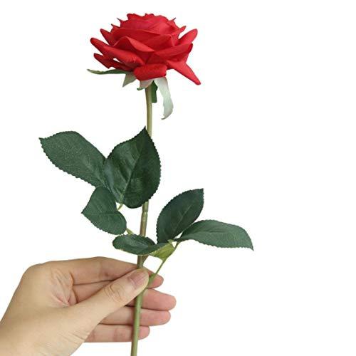 Big künstlichen Rosen Seide Blumen Fake Rose siconght Floral Fake Pflanze für Hochzeit Dekoration Geburtstag Garten Graves, 1Stück