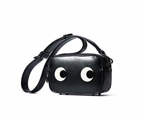 Schulter Kuriertasche Little Lady Mini Square Bag Schwarz