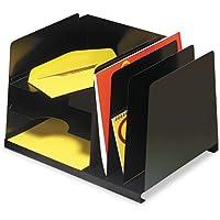 Steelmaster–Combinación horizontal/vertical acero archivo, seis secciones, 15x 11x 81/8, Negro 264r3hvbk (DMI EA