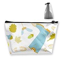 Wellies Shoe Print Pattern Makeup Bag Large Trapezoidal Storage Travel Bag Wash Cosmetic Pouch Pencil Holder Zipper Waterproof