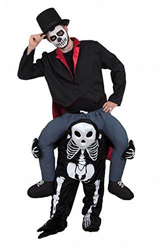 kepack Kostüm Aufsitz Reiter JGA Junggesellenabschied, Variante:Skelett (Skelett Kostüm Baby)