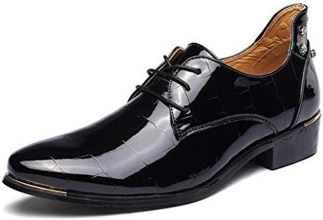 YaXuan Calzado Hombre/Cuero Primavera/otoño Comfort Oxfords Moda/Calzado Dedo Medio/Negro / Azul Marino/Rojo /...