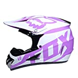WZFC Crosshelm Motocross Enduro Downhill Helm Motorradhelm Integralhelm (Model-FOX-13),L