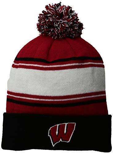 2670e8e70f9d0 Top of the World NCAA Wisconsin Badgers Men s Elite Fan Shop Winter Knit  Ambient Warm Hat