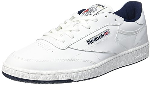 Reebok Club C 85, Sneakers Basses Homme - Blanc (Int-White/Navy), 46 EU