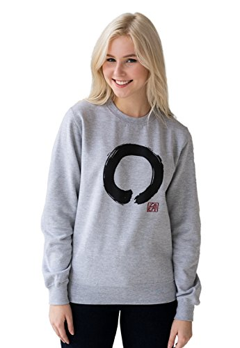 Strand Clothing Vegan Sweatshirt - Enso Buddhist Circle - Vegetarian Veggie Buddhism Zen Peace Men's Women's Graphic Printed Top Jumper