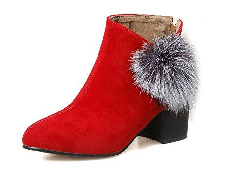 Scarpe da donna con stivali caldo Red wine