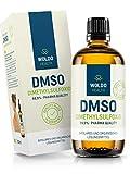 DMSO Dimethylsulfoxid 99,9% Reinheit pharmazeutische Qualität – lichtgeschützte Braunglasflasche inkl. Tropfverschluss 100ml