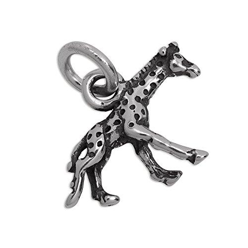Ciondolo charm con piccolo Giraffa in Argento Sterling - Africana Argento Sterling Bracciale