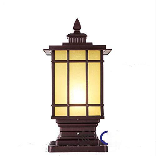 MICHEN LED dekorative Spalten Beitrag Laterne Pole Lampe Pathway Garten Licht Landschaftsbeleuchtung Patio Yard Deck Path Rasen Hinterhof, LED LED,Brown - Pole-lampe Freien Im