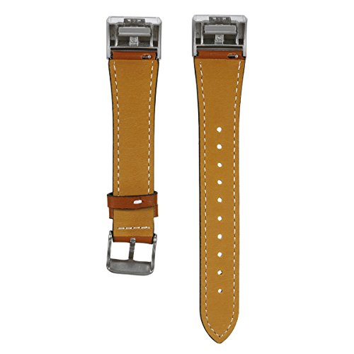 Bluelover Ersatz Uhren Band Armband Lederarmband Für Fitbit Charge 2 - Braun