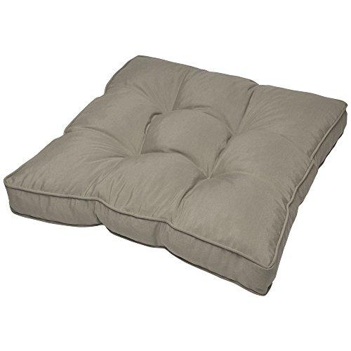 Beautissu Coussin Lounge - pour Assise - pour extérieur - Imperméable - Gris - 70x70x10 cm - Idéal pour Jardin, Balcon