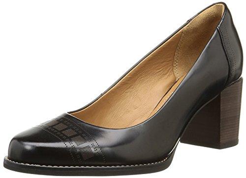 Clarks Tarah Sofia, Damen Pumps, Schwarz (Black Brushed Leather), 42 EU (8 Damen UK)