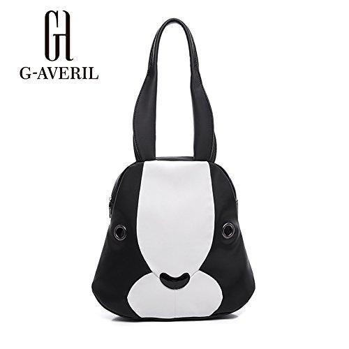 (G-AVERIL) 2018 alta qualità Nylon Donna borsa Designer Bag Fashion Borsa a Spalla Borse a Mano nero