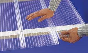 Polycarbonat Dachpaneele klar easy-click plus Paneele 6000 x 230 x 16 mm