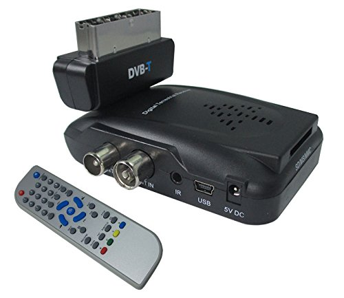 DECODER MINI DIGITALE TERRESTRE DVB-T SCART 180° USB SD PALY RECORDER TDT 1108V