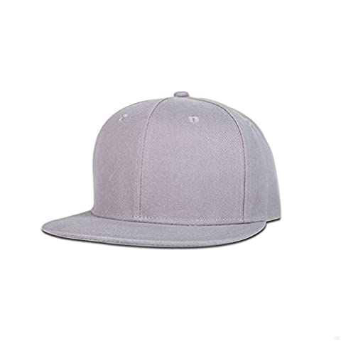GADIEMENSS Stylish Flat Baseball Cap Bill Plain Snapback Hats Visor Adjustable Size Hip-hop Hat Variety of colors and designs(All