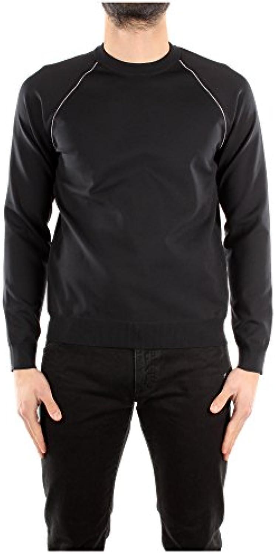 Camiseta Manga Larga Prada Hombre Poliéster Negro y Blanco SMM877NEROBIANCO Negro 52