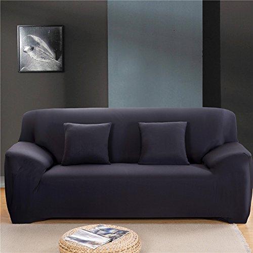 getmorebeauty verde living diseño de flores sofá sofá slip covers, Pet Sofá y muebles Protector, funda de tejido elástico elástica para silla, sofá, tela, negro, 3