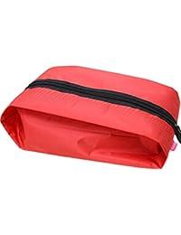 Demarkt Bolsa de Almacenamiento de Zapatos de Nylón Impermeable para viaje departes aire libre(Rojo)