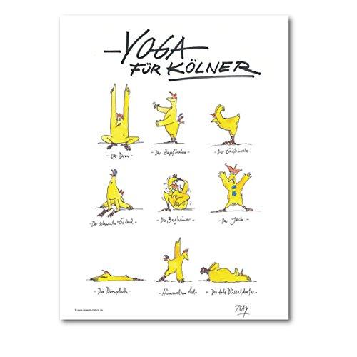"""Gaymann Kollektion Poster """"Yoga für Kölner"""", 40x50cm"""