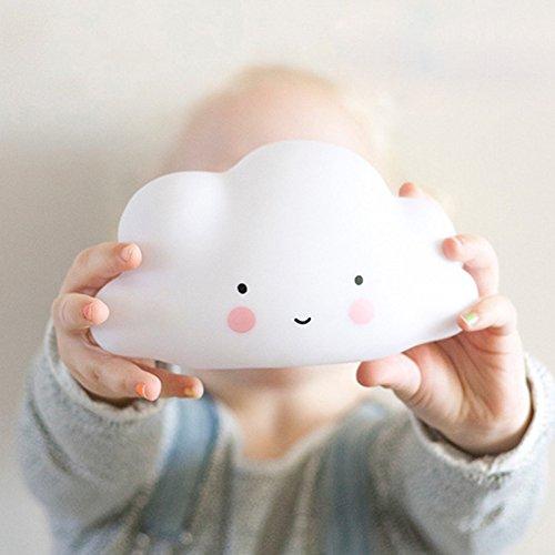 Gulin Nette Wolke Lächeln Gesicht LED Lampen Nacht Lichter Kinderzimmer Kinder Kinderzimmer Nachtlampen (weiß) (Gesichts-licht-schalter)