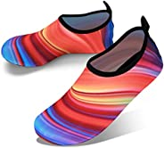 JOTO Water Shoes for Women Men Kids, Barefoot Quick-Dry Aqua Water Socks Slip-on Swim Beach Shoes for Snorkeling Surfing Kay