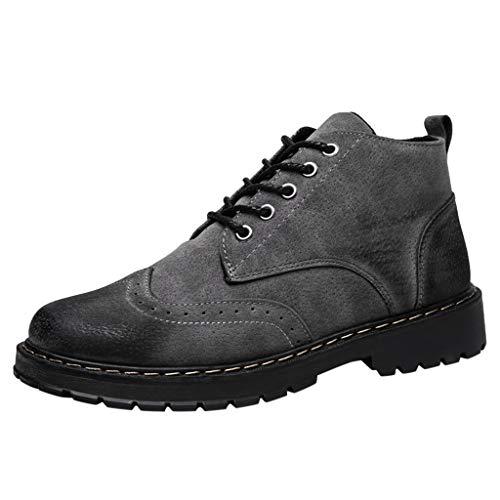Billig Wingtip Schuhe - Herren Stiefeletten Retro Wingtip Schuhe Einfache