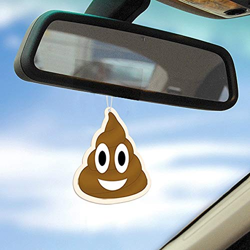 Bubblegum Stuff Emoji Poop Deodorante per Auto, Marro