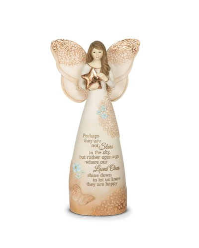 Pavilion Gift Company 19045 Licht Ihr Weg, Memorial Stars in The Sky Angel Figur, 7-1/2 Zoll -
