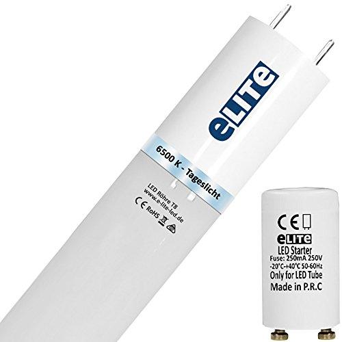 eLITe SMART LED Röhre T8 Glas bruchresistent | G13| 12W | 6500K | 865| 1600lm hell | 90cm | 330°| ca. 130lm/W | kein Durchhängen| für Behörden und Firmen geeignet| Tageslicht