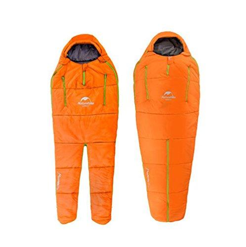 Guoyajf sacco a pelo da campeggio all'aperto, leggero, perfetto per backpacking, escursionismo e campeggio; sacco a pelo 3-4 stagioni; sacco a compressione incluso,orange,s