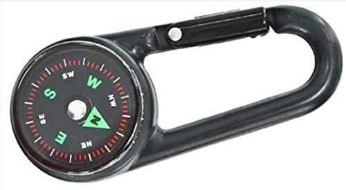 Lean Toys Kompass Karabiner Clip Kletterkarabiner Kunststoff Karabinerhaken Reisen Camping