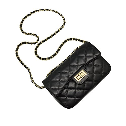 c004fcddd6d01 Gesteppte tasche mit goldkette – Modeschmuck