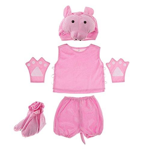 MagiDeal Kinder Tier Kostüm - Schwein