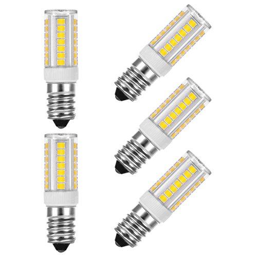 LOHAS® 5 x E14 5W Lampadina LED (pari a 40W), 400 Lumen,6000K,GiornoBianco, LED SMD, Angolo di Diffusione di 360°[Classe di efficienza energetica A]