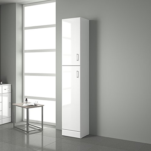 tall bathroom cabinets white gloss gloss white bathroom cupboard reversible storage 24307