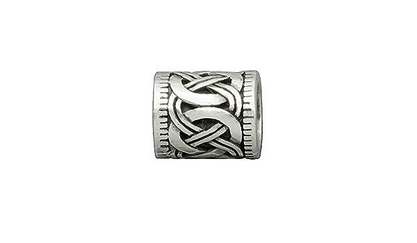 Beldiamo 925 Sterling Silver Hair Beard Bead Triple Knot Amulet 14 mm x 10mm x 8 mm Dreadlocks Beads from Jewelry