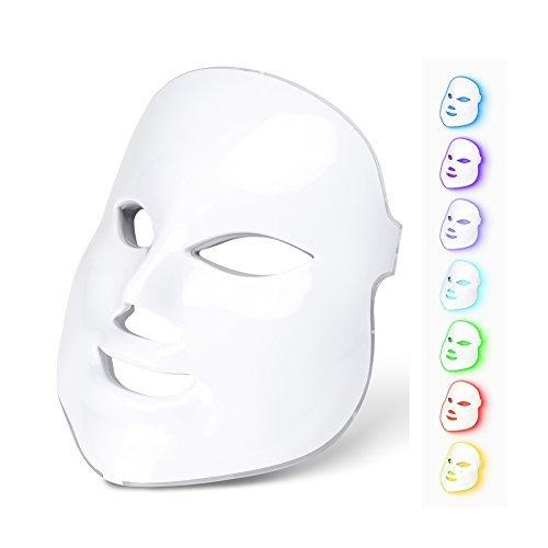 Soins de visage de thérapie faciale électrique de rajeunissement de peau de masque de photon de 7 couleurs de lumière